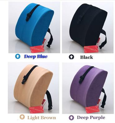Lumbar Back Support Cushion Pillow For Auto Office Home Car Use Memory Foam New Car Interiors
