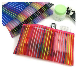 Wholesale Colorful lines Cosmetic Bag zero wallet bag is convenient and practical and easy to carry
