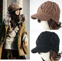 Wholesale Serratula Knitting Star Anise Wool Cap Stingy Brim Hats