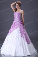 Wholesale Hot Stock Ball Gown Bridal Wedding Evening Prom Wear Dress Satin Chiffon Voile CL2519