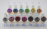 Quartz ice watches - 100 New Transparent jelly watches plastic watches