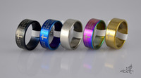 Wholesale 150pc Mixed Colors ENGLISH SERENITY PRAYER Stainless Steel Rings Fashion Catholic Christian Religious Jewelry