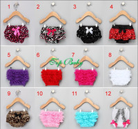 Wholesale Hot Infant Baby Girls Lace Bloomers Chiffon Ruffle Pettiskirt Panties Toddle Kids Underpants