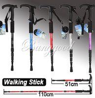 Trekking Poles Hiking Rubber Durable Adjustable AntiShock Hiking Cane Walking Pole Trekking Stick Crutches
