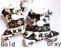 Wholesale 2 Colors Dog Apparel Clothes Soft Fleece Deer Jumpsuit Hoodie Size S M L XL