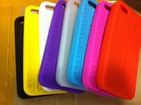 Wholesale for iphone5 case tyre tire Silicon Case for iPhone G by china post