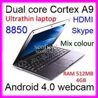 Wholesale Q707 inch Android Dual core Cortex A9 Webcam Wifi Skype Mini Notebook Laptop HDMI