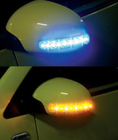Wholesale Double light LED V car Lights rearview mirror soft turn light mix order hot
