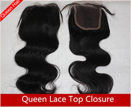 Wholesale Queen hair products Virgin Brazilian Hair Lace Top Closure quot quot body wave quot quot B MRL501