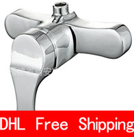 Wholesale DHL Sanitary Ware Bathroom Sink Faucets Shower faucet Mixing faucet Double type