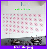 Wholesale wall stickers kitchen stickers anti oil sticker Kitchen Decals Multicolor heat resistant Stickers