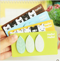 Wholesale tip shape memo pad sticky notes with kinds of expressions book mark message post for gift free ship