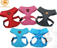 Wholesale Adjustable Dog Harness Polka Dots Safety Vest Harness Leash Colors SIZE