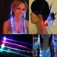 Wholesale Creative New Colorful Flash LED Braid Hair Decoration for Halloween Christmas Party Holiday