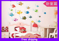 Wholesale childs room wall stickers kitchen stickers Kitchen Decals Multicolor stickers with colorful fish