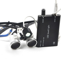 Wholesale CE Dental oral care Medical Binocular Loupes X mm Optical Glass Loupe LED Head Light