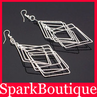 Silver Bohemian Women's Plated 925 Sterling Silver Dangle Earrings Chandelier Earrings Bohemia Earrings Free Shipping E2