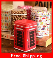 Wholesale Cute Pattern Series Tea Iron Box Mini Amazing Tin Box Metal Storage Box For Kids Gift