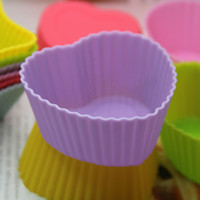 FDA cupcake soap - Heart CM cupcake silicone cake Cup molds baking molds Soap muffin pudding mold