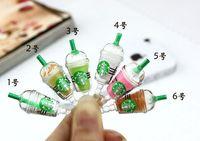 starbucks - Starbucks Clear Bottle dustproof plug Anti Dust Plug mm Jack for iphone Mix Colors