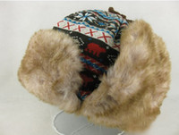 Wholesale Winter Hat Earflap Russian Trooper TRAPPER Faux Fur Hat SKI BEANIE HAT CAP