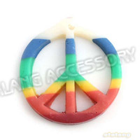 all the people red clay - 60pcs Mixed Red Green Yellow Peace Shape Polymer Clay Pendant Fit Necklace Handcraft