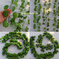 artificial leaves - 12PCS styles green foilage artificial silk Ivy leaves wedding garlands crafts