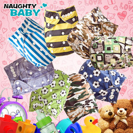 Promotion Sale-Naughtybaby Cute Double Row snaps Cloth Diapers without Inserts 16 pcs Diaper Covers