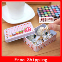 Wholesale Amazing Box Cute Pattern Series Tea Iron Boxs Mini CreativeTin Box Metal Storage Box
