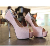 Wholesale Baby Pink Heels Wedding Shoes Red Heels Cheap Peep Toe High Platform Heels Stiletto Shoes Colors