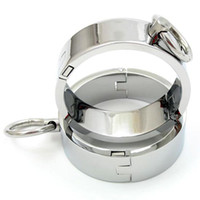 Wholesale Chrome plated Steel Restraints Rings Pieces with Magnet Locking Pins L Size