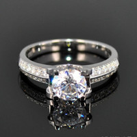 Wholesale Fashion Cubic Zirconia Engagement Silver Lady Diamond Ring Branded Designer Jewelry