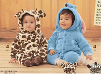Wholesale Baby onesies baby romper lovely Animal design romper Leopard zebra elephant romper Fleece autumn