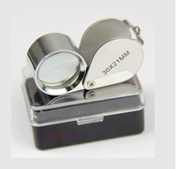 Wholesale Metal Led Light Jewelers Eye Loupe Magnifier Magnifying Glass x mm