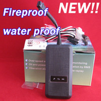 Wholesale NEW waterproof amp fireproof GSM GPS tracker waterproof fireproof GT02A for car V pwoer