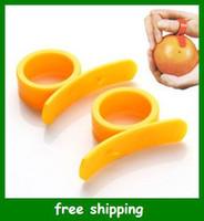 Wholesale Practical oranges Barker peeling helper fruit Ring type clever open orange Tools gifts