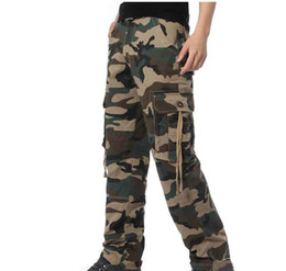 Wholesale Men Army Cargo Camo Combat Trousers Pants Casual Slim Fit Pant Size Color