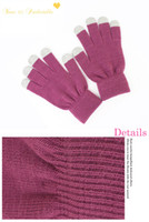 Wholesale Magic Gloves Multi Points Capacitive Touch Screen Gloves Multi Touch Glove Burgundy Men Womens Glove