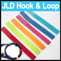 Wholesale 20 X mm Colorful Velcro Hook and Loop Reusable Cable line Tie Down Straps fasteners