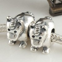 Wholesale Bead Charm Solid sterling silver jewelry fashion Christmas gift necklace HORSE DONKEY LW056