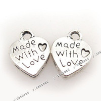 Wholesale 600pcs Silver Plated New Heart Shaped Loop Pendants Beads Fit Bracelet Charms