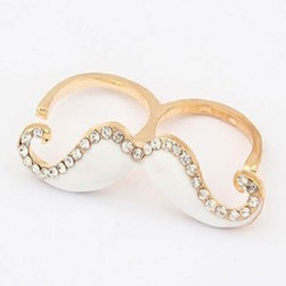 Color mustache ring Wedding ring ring Fashion ring finger factory price free shipping