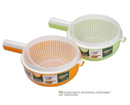 Wholesale Pint sized Mulit purpose Bushing Screen Small Bilayer Concentrated Plastic Sieve Colanders Strainers