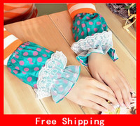 Wholesale Popular Cotton Cute Polka Dot Lace Oversleeve Clean Antifouling Sleeves Nice Gift