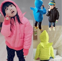 Wholesale Girls Angel Hooded JacketsChildren Winter Outerwear Kids Padding Jackets