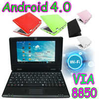 7-7.9'' Android 4.0 HDMI 7 inch Android 4.0 Cortex A9 VIA 8850 overclocking 1.5GHZ Mini Laptop Netbook DDR3 PC HDMI webcam