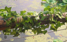 Wholesale 12 garland styles green foilage artificial silk Ivy leaves wedding crafts decoration