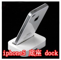 Wholesale For iPhone5 G Dock Adapter pin Docking Station for th amp retail package DHL