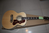 Wholesale Classic Custom Shop J M natural spruce AAA Back side Tigrina with fishman pickups acoustic guitar