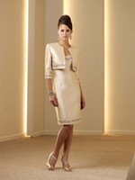 Wholesale 2013 New Elegent Strapless Taffeta A Line Knee Length Mother of the Bride Dresses Two Pieces D18
